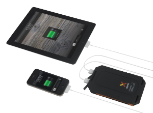 Solcellsladdare Delux laddar iPad och iPhone