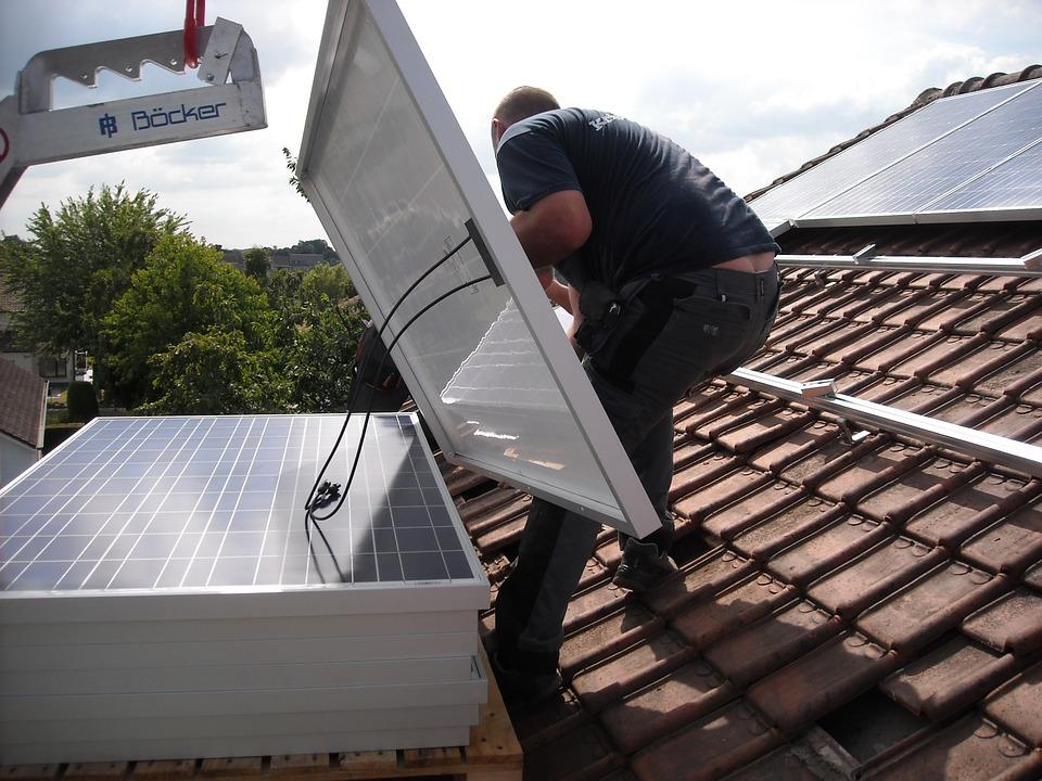 Solpanere på taket